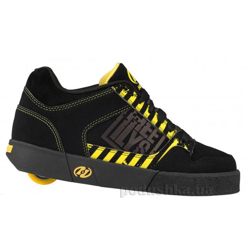 Роликовые кроссовки Caution Heelys черно-желтые