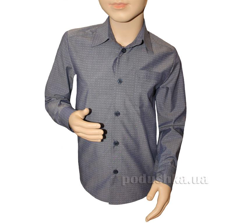 Рубашка классическая Промiнь ВД-0939 серая с рисунком