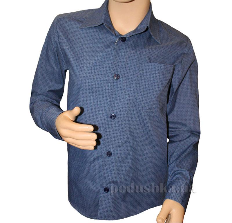 Рубашка классическая Промiнь ВД-0939 синяя в крестик