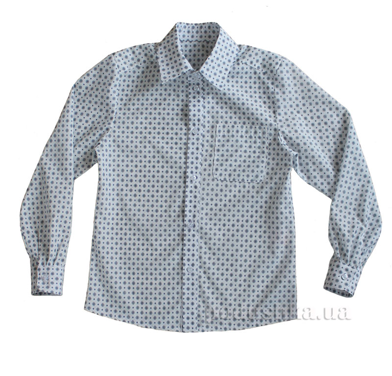Рубашка для мальчика Промiнь ВМ1601 Д белая в кружочки