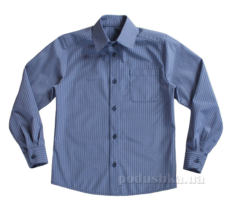 Рубашка для мальчика Промiнь ВМ1601 Д серая в елочку