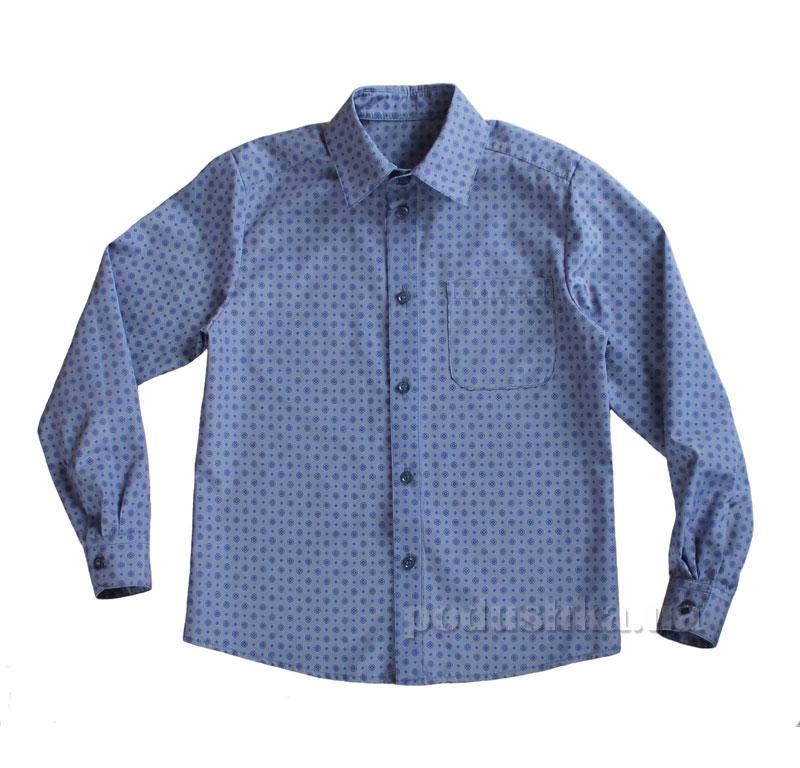 Рубашка для мальчика Промiнь ВМ1601 Д синяя в кружочки
