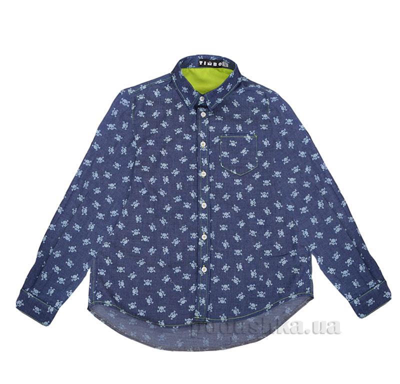 Рубашка для мальчика Skull Timbo R010217 синяя