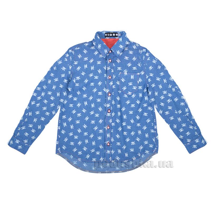 Рубашка для мальчика Skull Timbo R025575 джинс