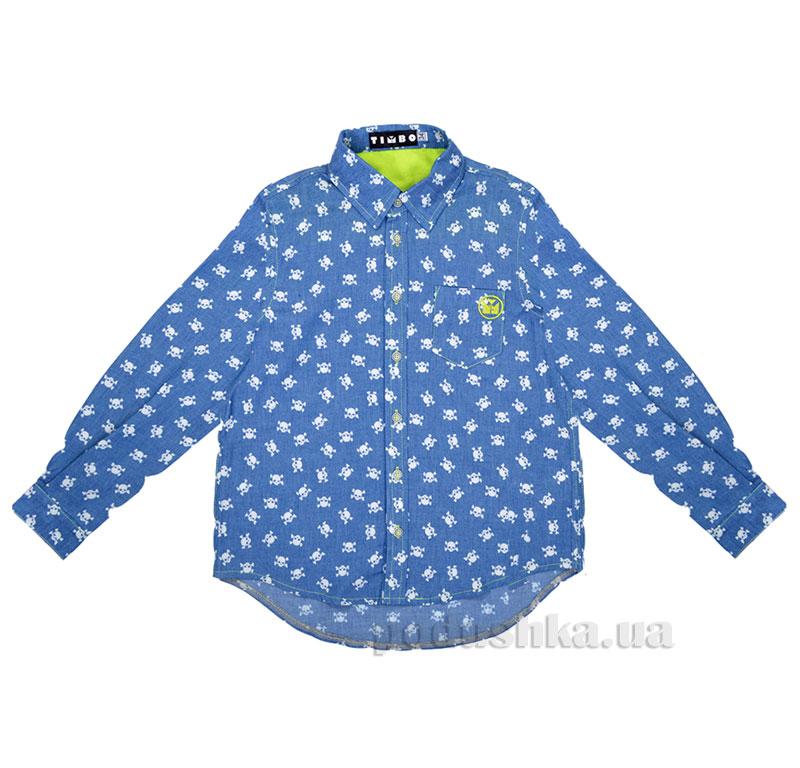 Рубашка для мальчика Skull Timbo R025872 джинс