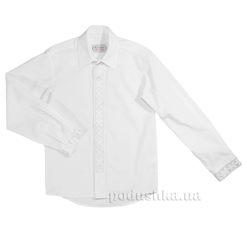 Рубашка с декоративной планкой Юность 330 белая
