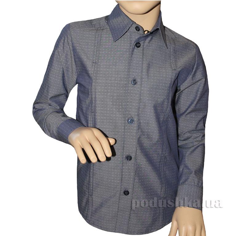 Рубашка-спорт для мальчика Промiнь ВД-0939 серая с рисунком