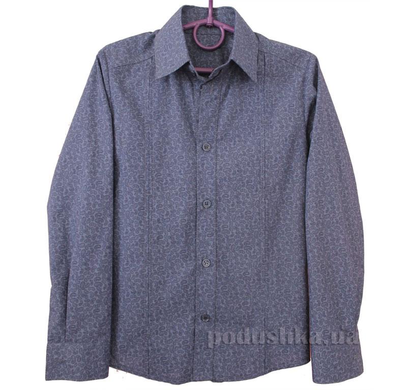 Рубашка-спорт Промiнь ВД-0939 синяя в огурчик