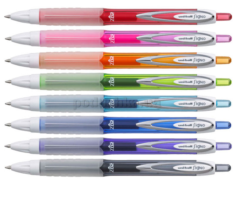 Ручка гелевая автоматическая uni-ball Signo 207F