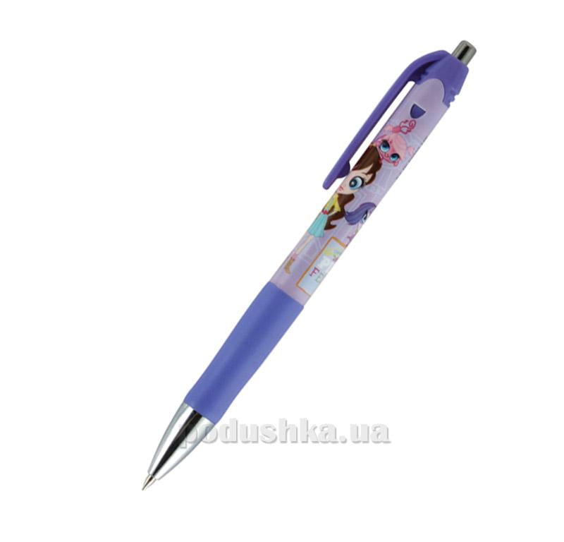 Ручка шариковая автоматическая Kite Pet Shop PS15-039K