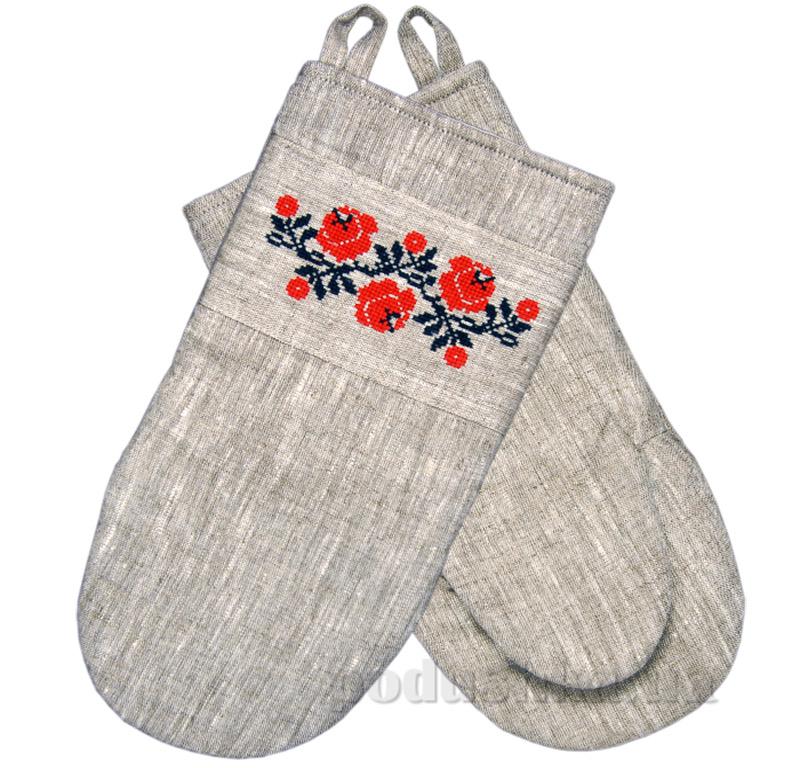 Рукавица с вышивкой Роза МКР Гармония