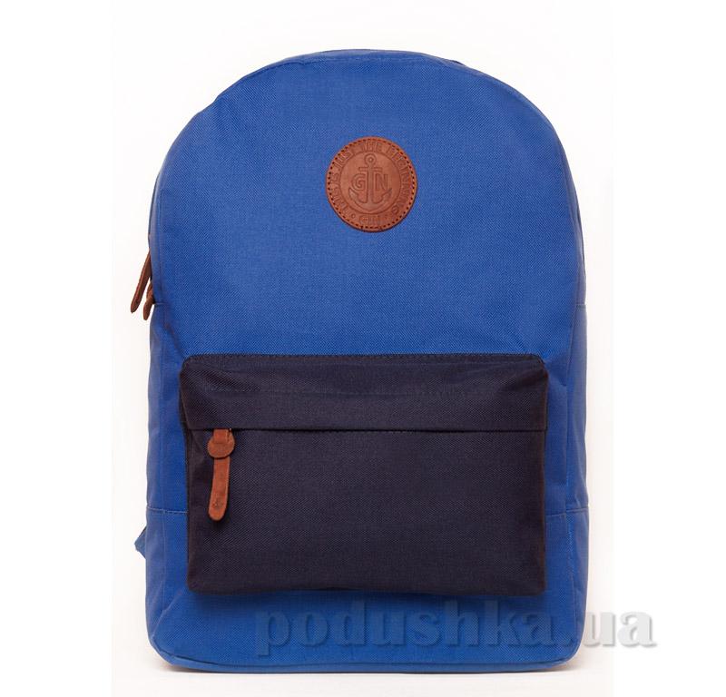 Рюкзак для города Бронкс Gin электрик с синим карманом