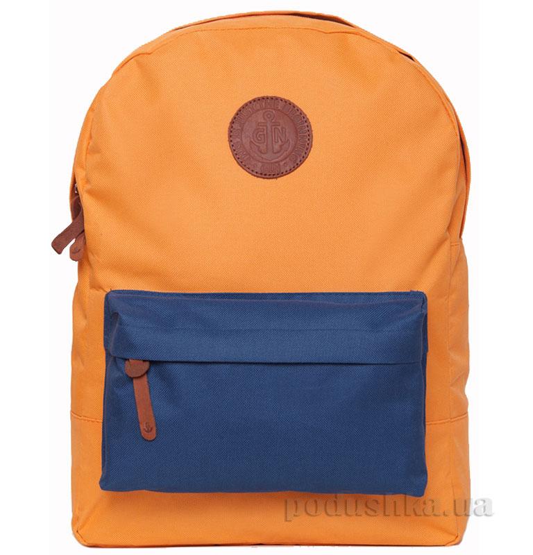 Рюкзак для города Бронкс Gin оранжевый с карманом неви