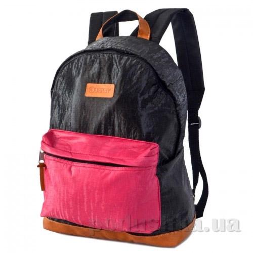 Рюкзак для ноутбука Derby Классика дутый 0100595,99 черно-розовый