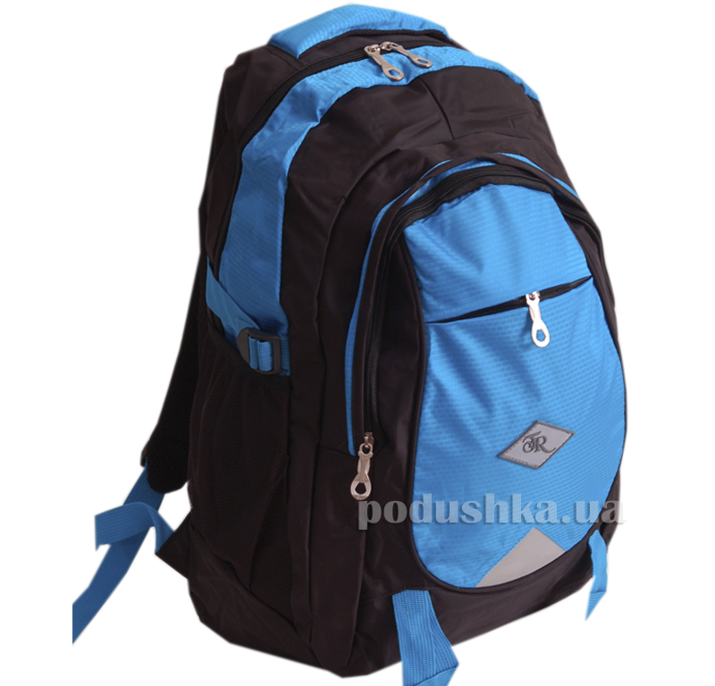 Рюкзак голубой на черном Traum 7042-02
