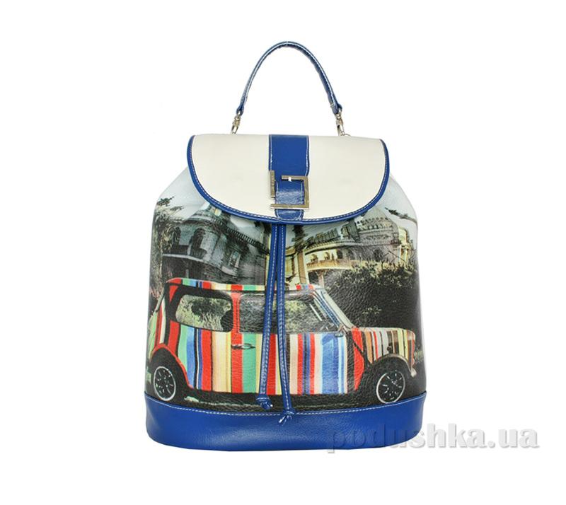 Рюкзак из эко-кожи Betty Pretty Ретроавтомобиль EL751-908