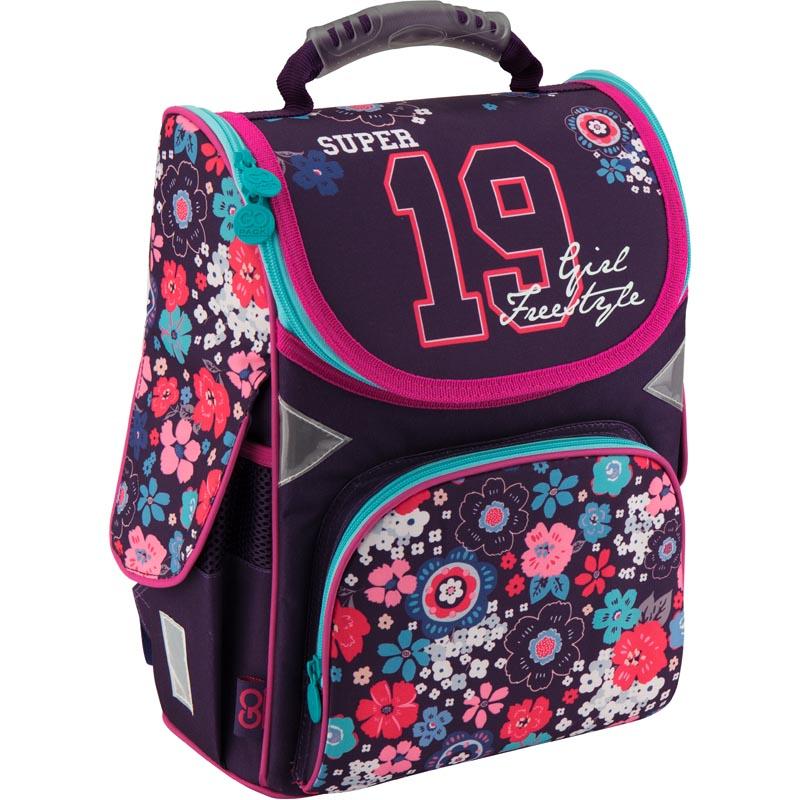 Рюкзак каркасный GoPack 5001S-10 GO18-5001S-10 черно-розовый