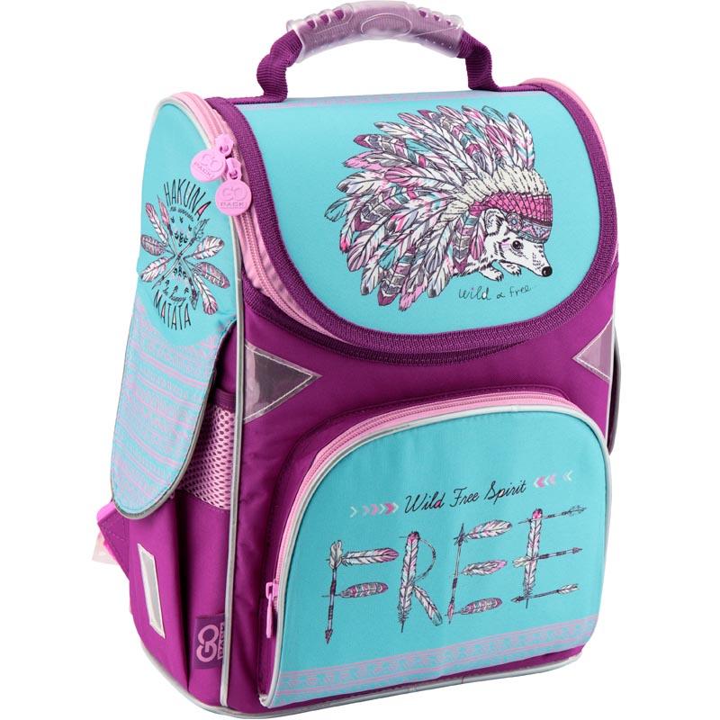 Рюкзак каркасный GoPack 5001S-2 GO18-5001S-2 бирюзово-фиолетовый