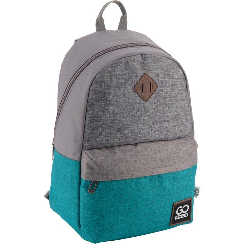 Рюкзак молодежный GoPack 122 GO-1 GO18-122L-1 серо-зеленый