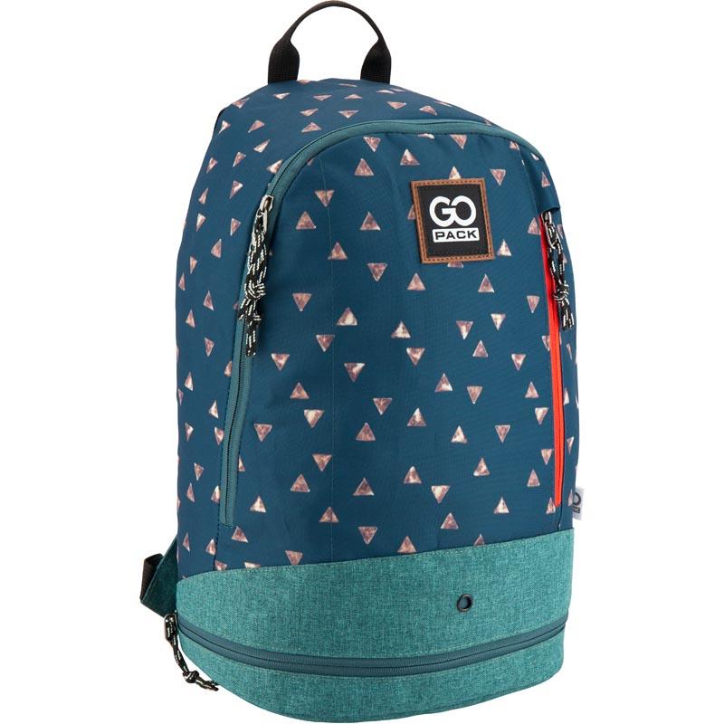 Рюкзак молодежный GoPack 123 GO-1 GO18-123L-1 сине-зеленый