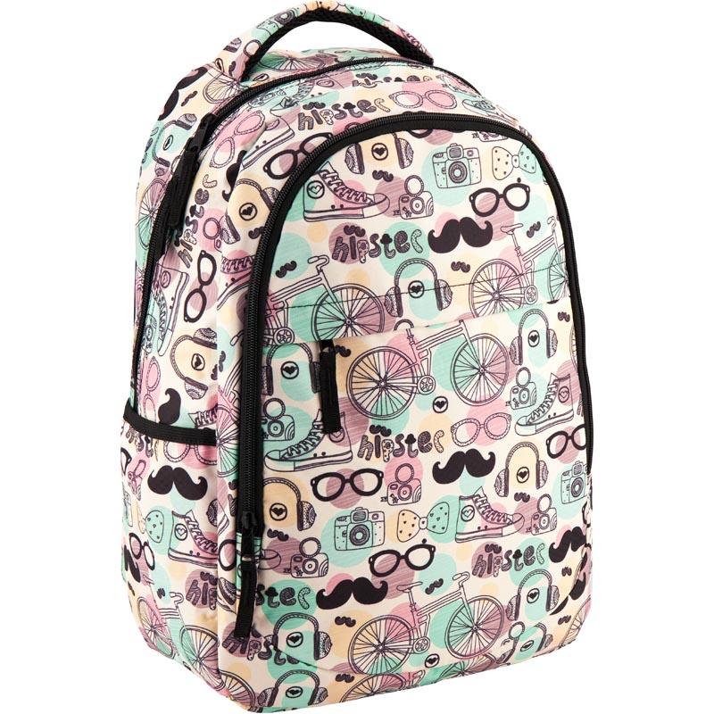 Рюкзак молодежный GoPack 131 GO-2 GO18-131M-2 белый