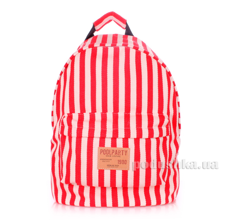 Рюкзак молодежный Poolparty backpack-navy-red