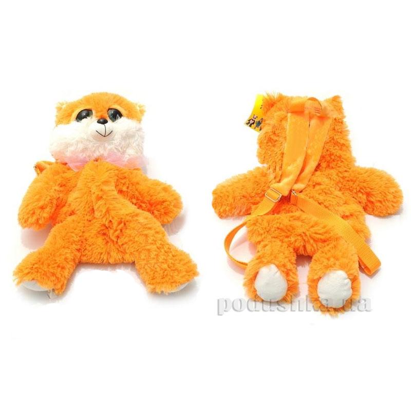 Рюкзак мягкий Котик В158 оранжевый