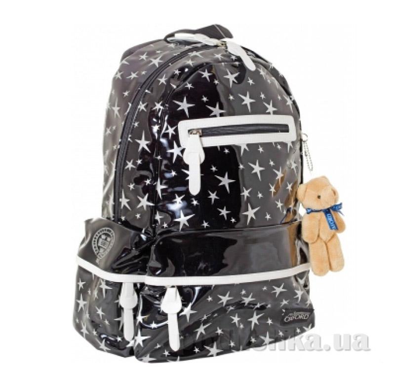 Рюкзак подростковый  Х053 Oxford 1 Вересня 551995 черный