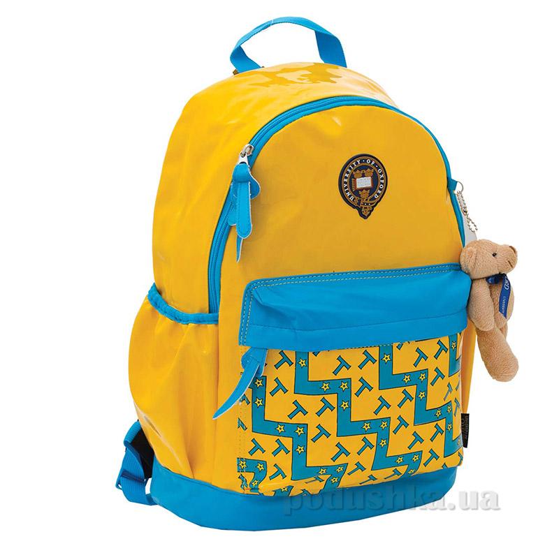 Рюкзак подростковый X066 Oxford 1 Вересня 552581 желто-голубой