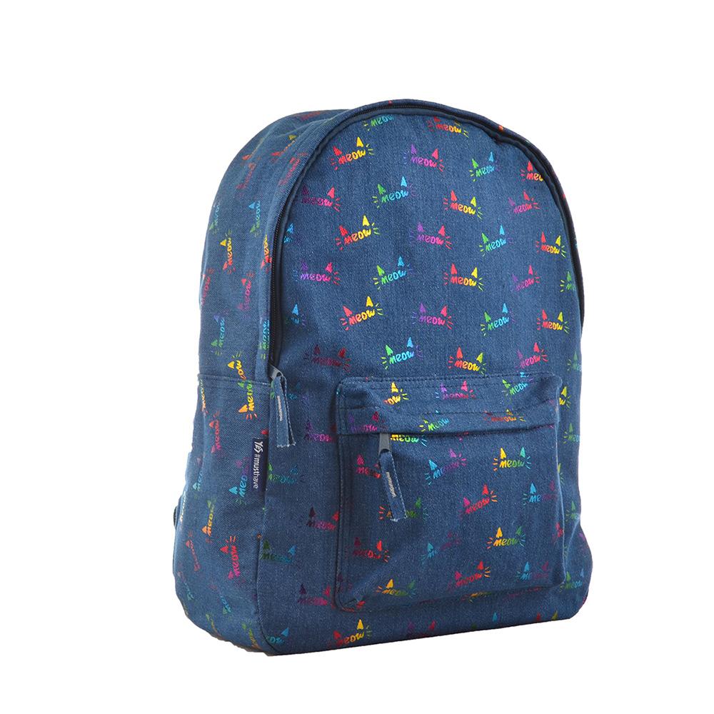 Рюкзак подростковый Yes ST-18 Jeans Meow 555414