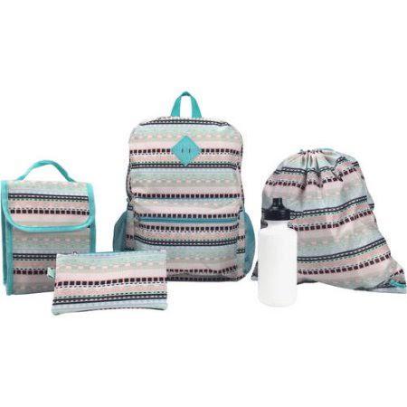 Набор Рюкзак, пенал, бутылка, сумка для обуви, ланч-сумка Generic Assembled BPWM163153