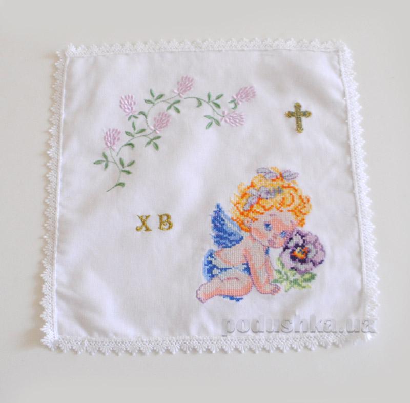 Салфетка пасхальная Ангелочек Украина с вышивкой C115