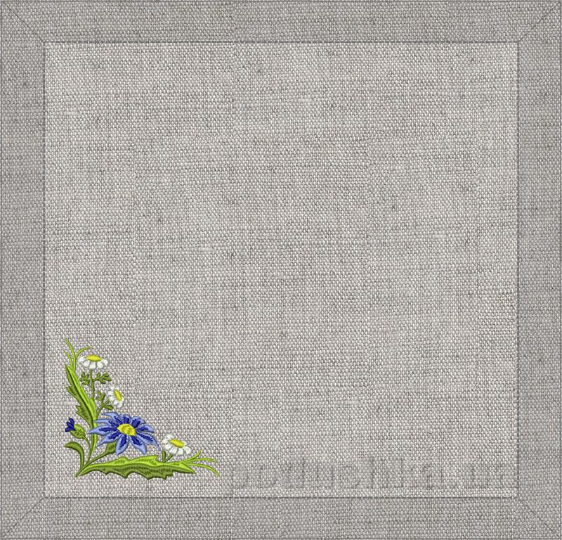 Салфетка Полевые цветы Гармония серый лен