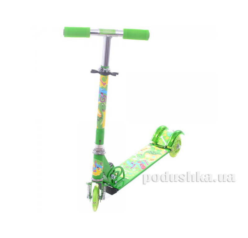 Самокат Profi Trike BB 3-009-1 Дино Зеленый   Profi