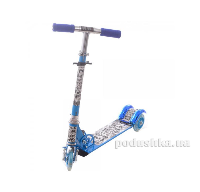 Самокат Profi Trike BB 3-009-1 Стиль Голубой   Profi