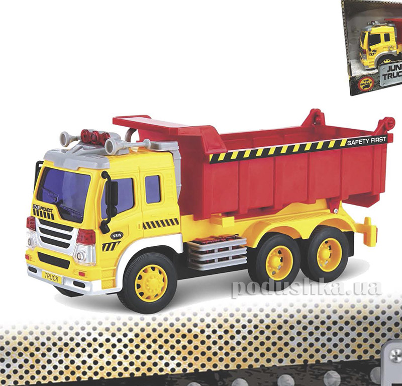 Самосвал Junior Trucker 28 см со светом и звуком Dave Toy 33024   Dave Toy