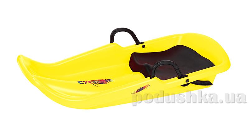 Санки Plast Kon Cyclone желтые SAN-00-42