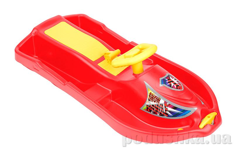 Санки Plast Kon Snow Formule красные SAN-00-59