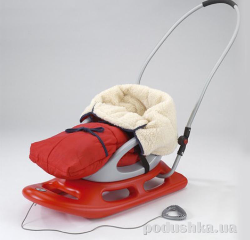 Санки Snow Baby Dream с подсветкой KHW Kunststoff 29551 красные