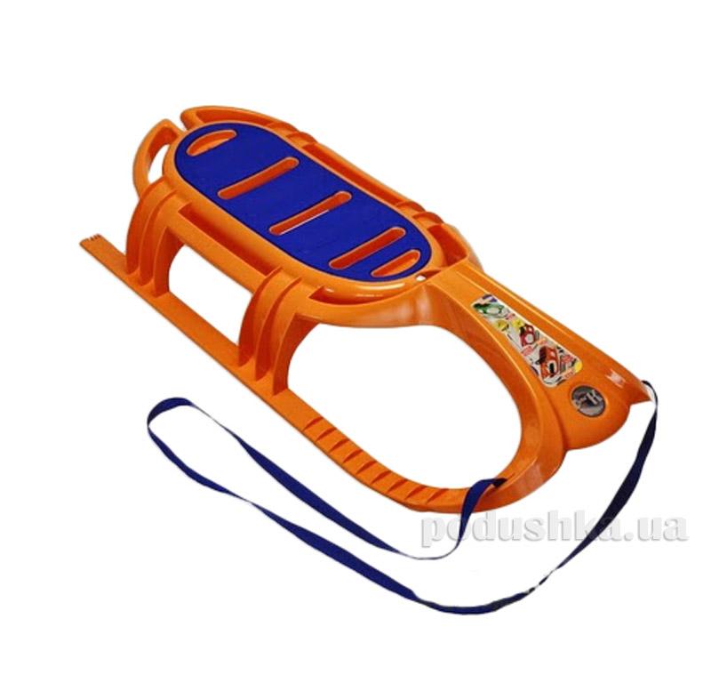 Санки Snow Tiger comfort KHW Kunststoff 21505 оранжевые