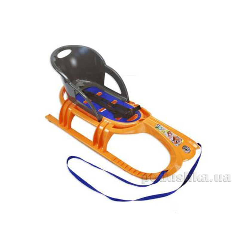 Санки Snow Tiger comfort KHW Kunststoff 29405 оранжевые