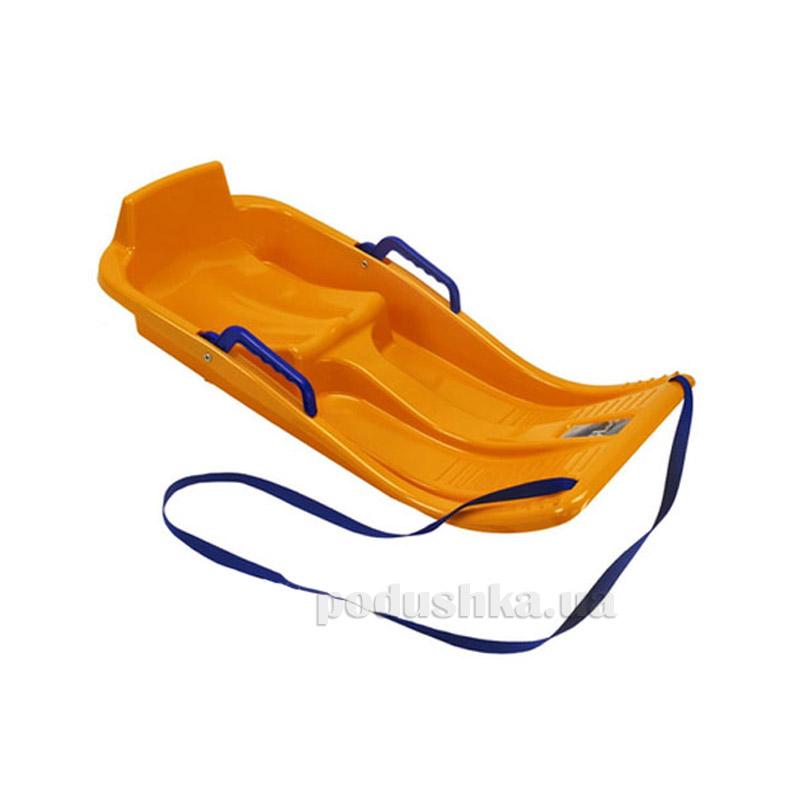 Санки-корыто Minibob оранжевые 23005 KHW Kunststoff 23005 оранжевые