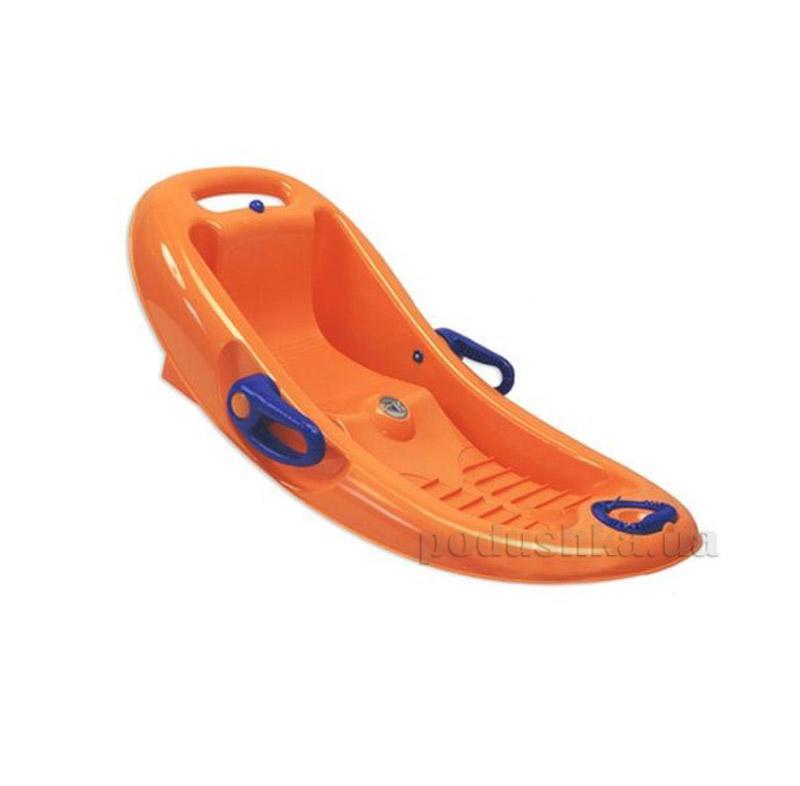 Санки-корыто Snow Flipper de luxe KHW Kunststoff 26005 оранжевые
