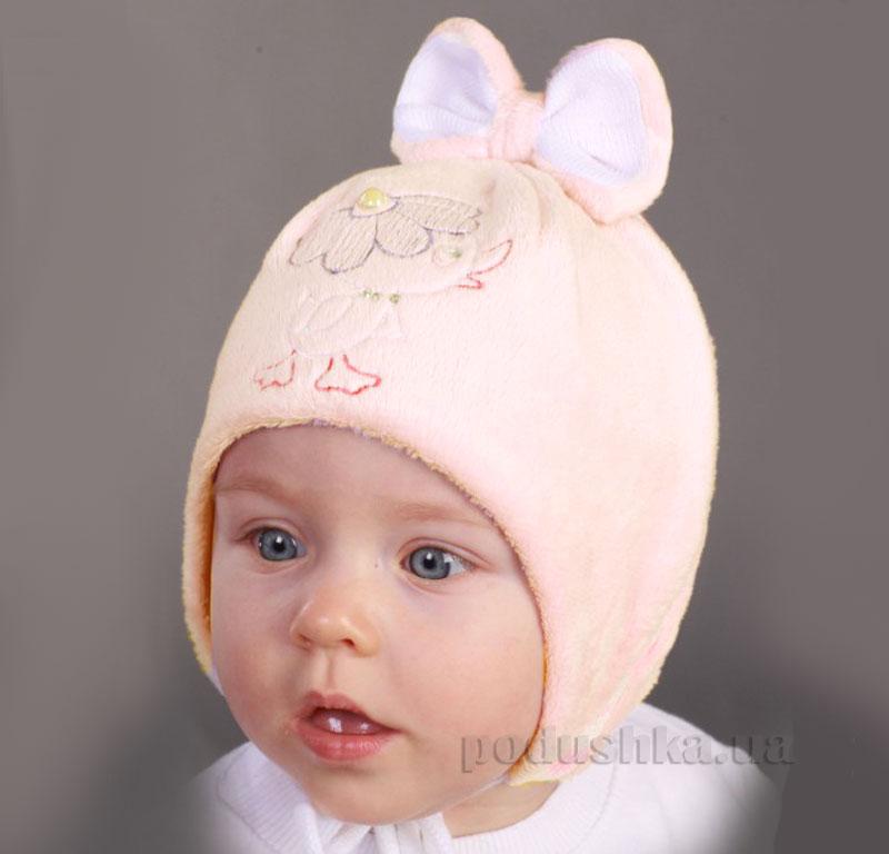 Шапочка демисезонная Бабасик Ципа нежно-розовая