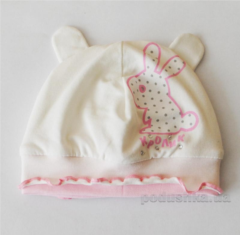 Шапочка для девочки Бабасик Кролик