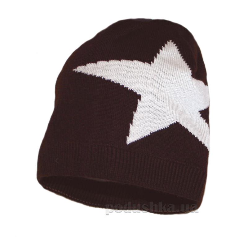 Шапочка для мальчика Бабасик Звезда коричневая