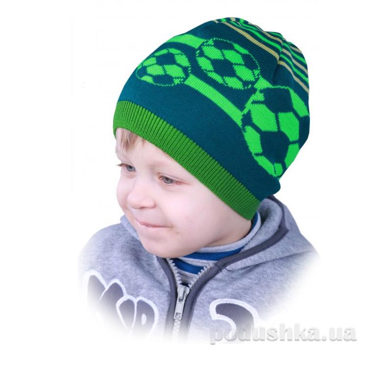 Шапочка для мальчика Ростик Бабасик зеленая