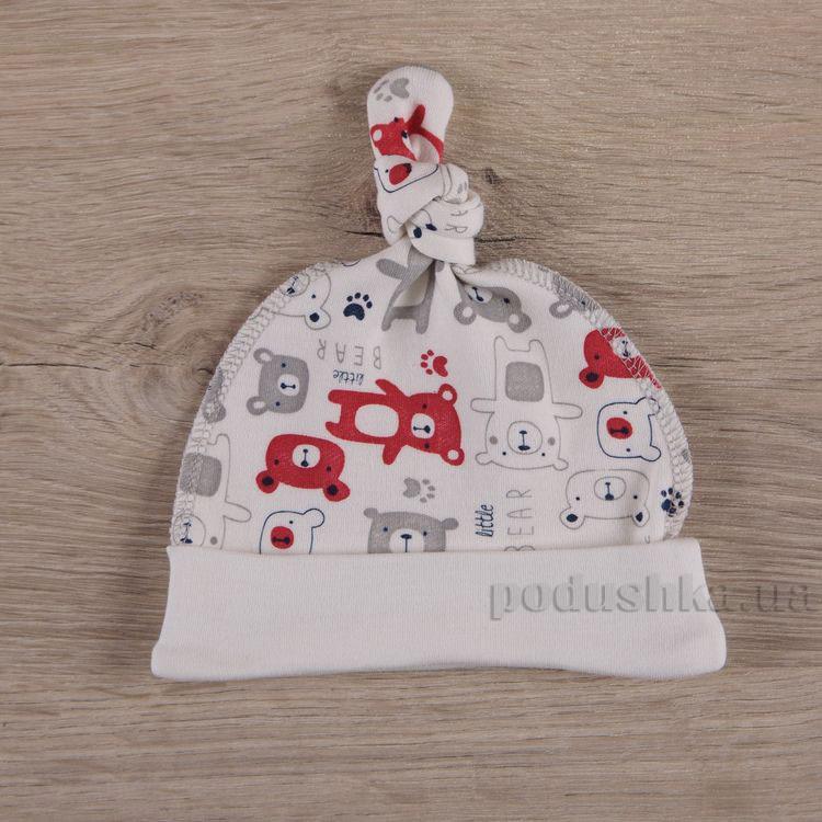 Шапочка для малышей Мини мишка Бетис интерлок красный