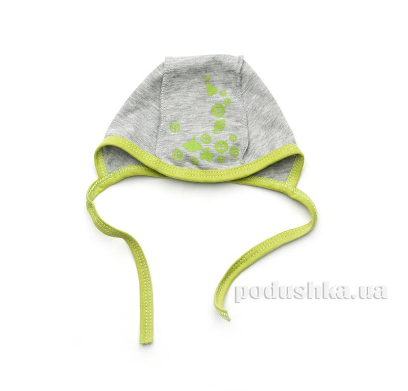 Шапочка для новорожденного Модный карапуз 303-00026 Серый с зеленым