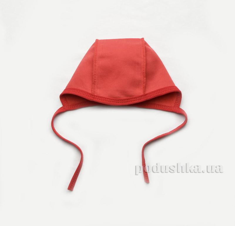 Шапочка утепленная для новорожденной девочки Модный карапуз 302-00016 Бордовый